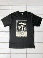 Corvidopolis Chanterelle Tarot Black T-shirt