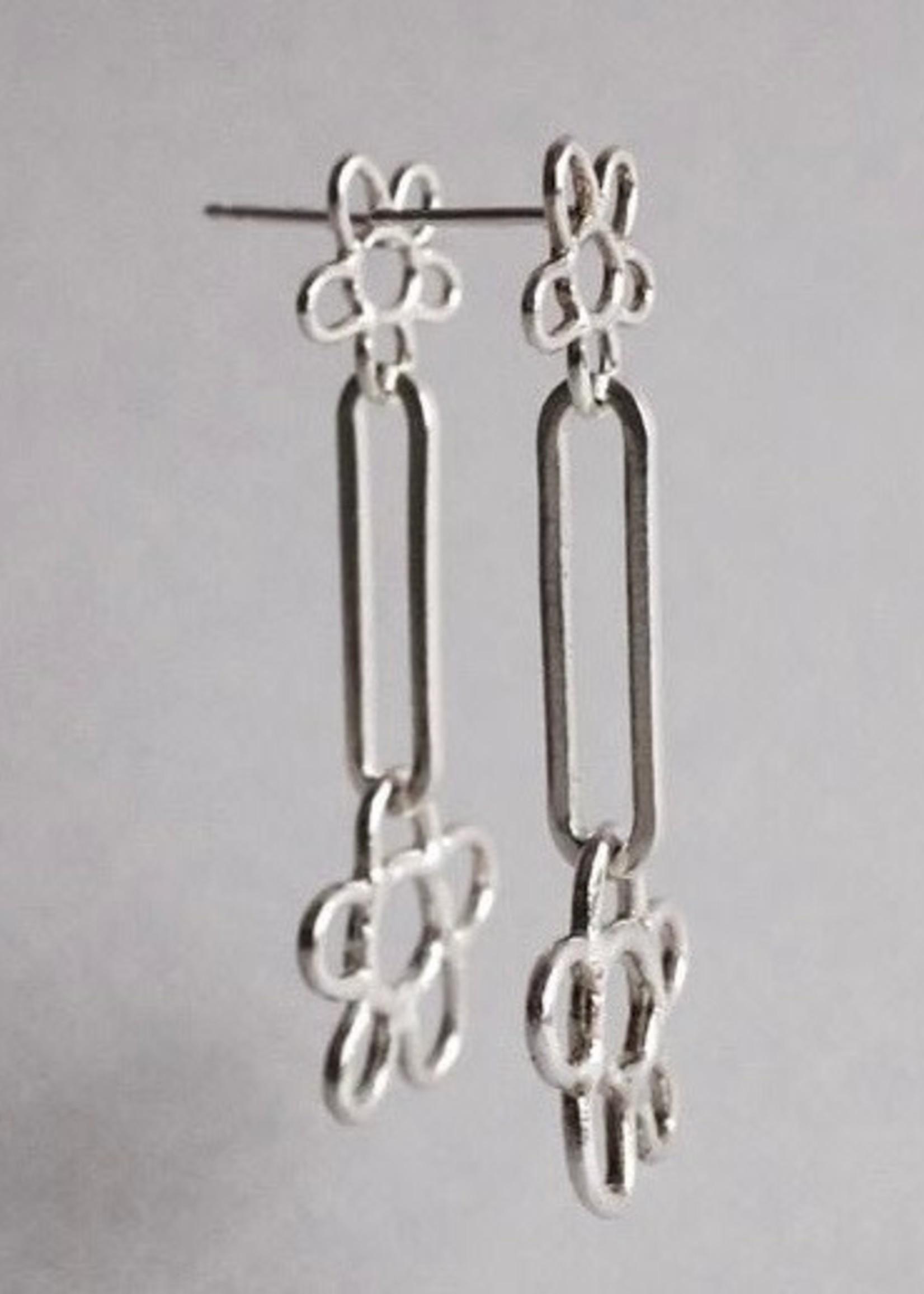 Marmod8 Double Flower Earrings