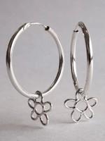 Marmod8 Boucles d'oreille anneaux avec fleurs