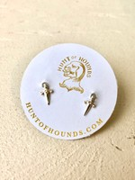 Hunt of Hounds Silver Mini Dagger Stud Earrings