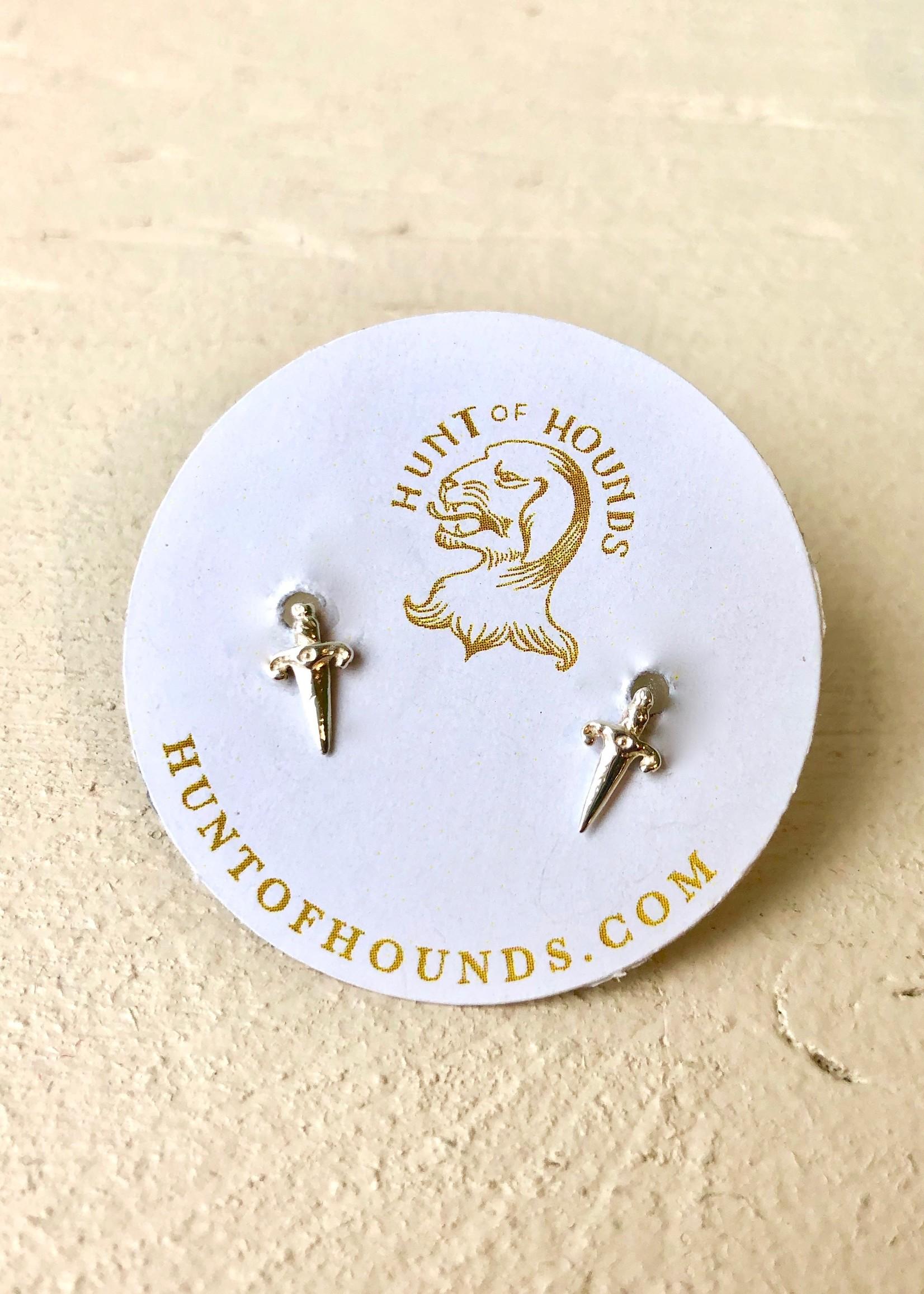 """Hunt of Hounds  Boucles d'oreilles argent """"Mini Dagger Stud"""""""