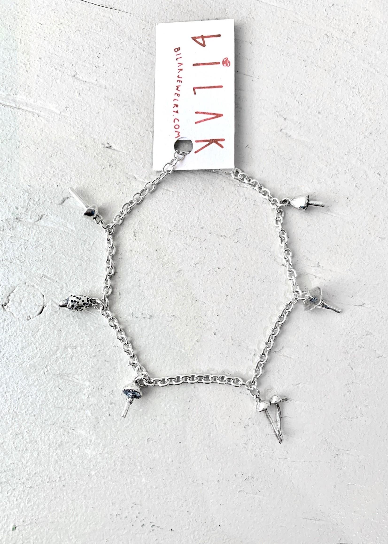 Bilak Jewellery Mushroom Charm Bracelet