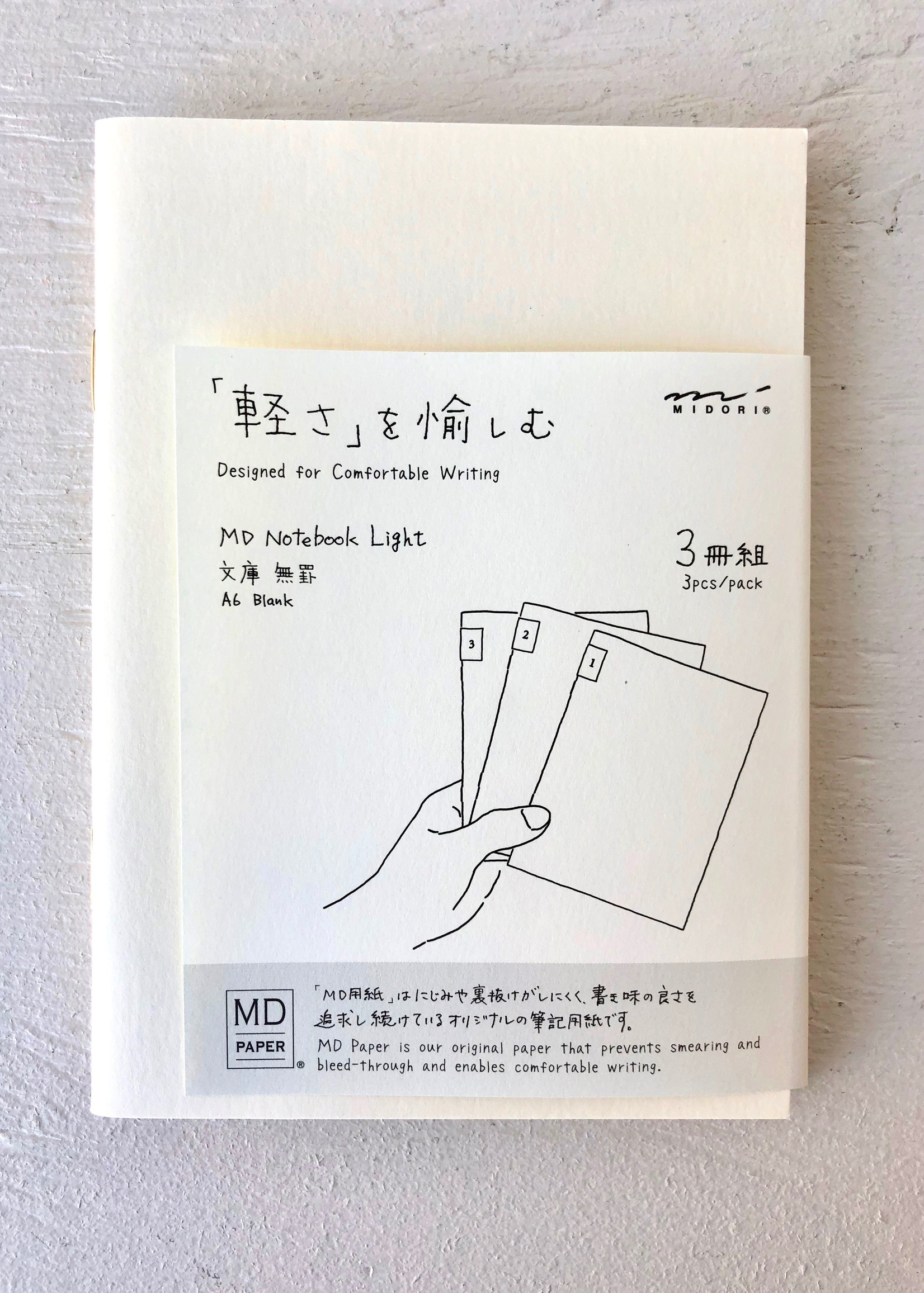 Midori Midori A6 notebooks packs of 3