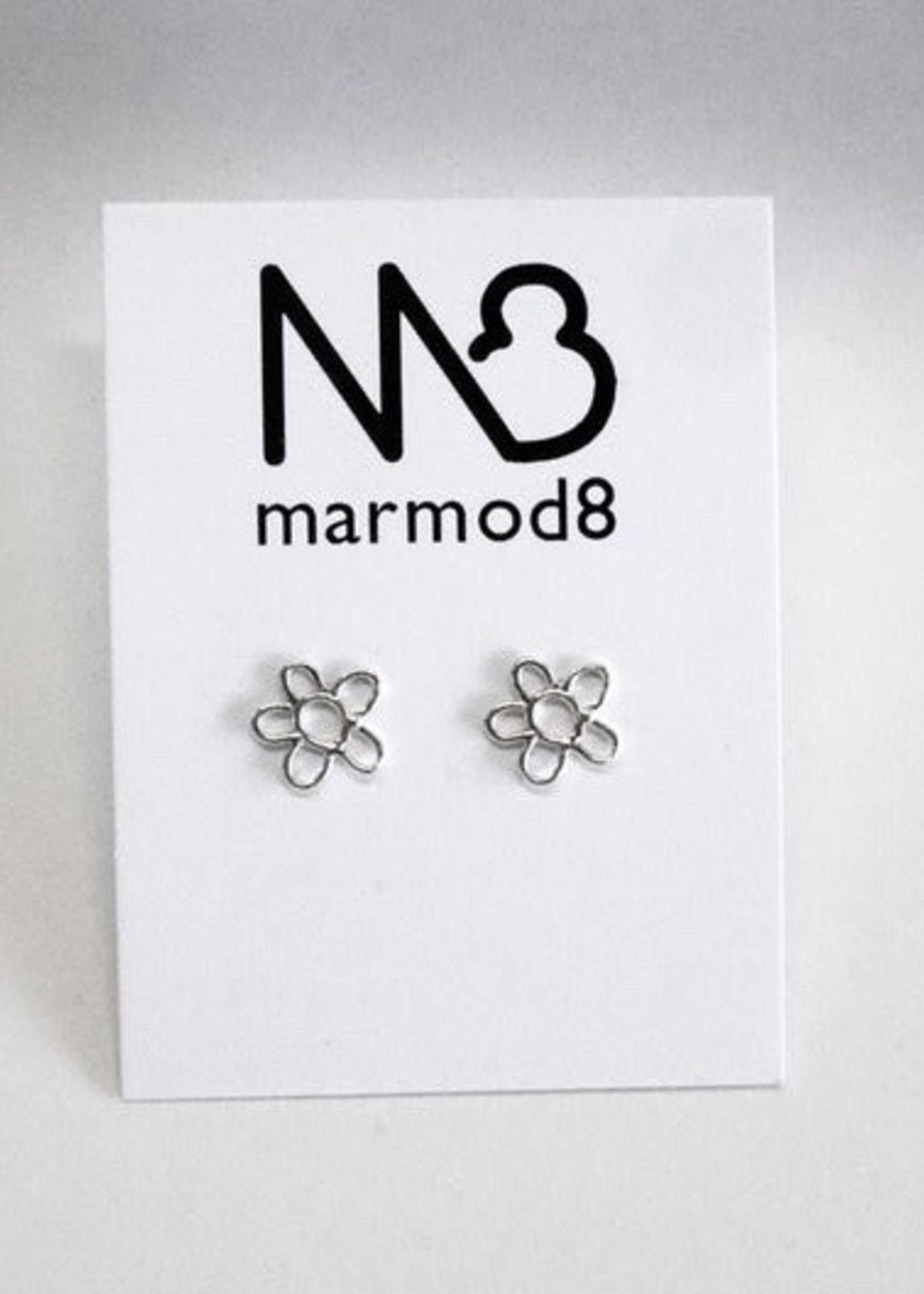 """Marmod8 Boucles d'Oreille Argent """"Stud Fleurs"""""""