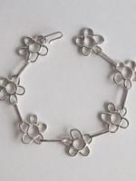 Marmod8 Bracelet Argent Fleurs