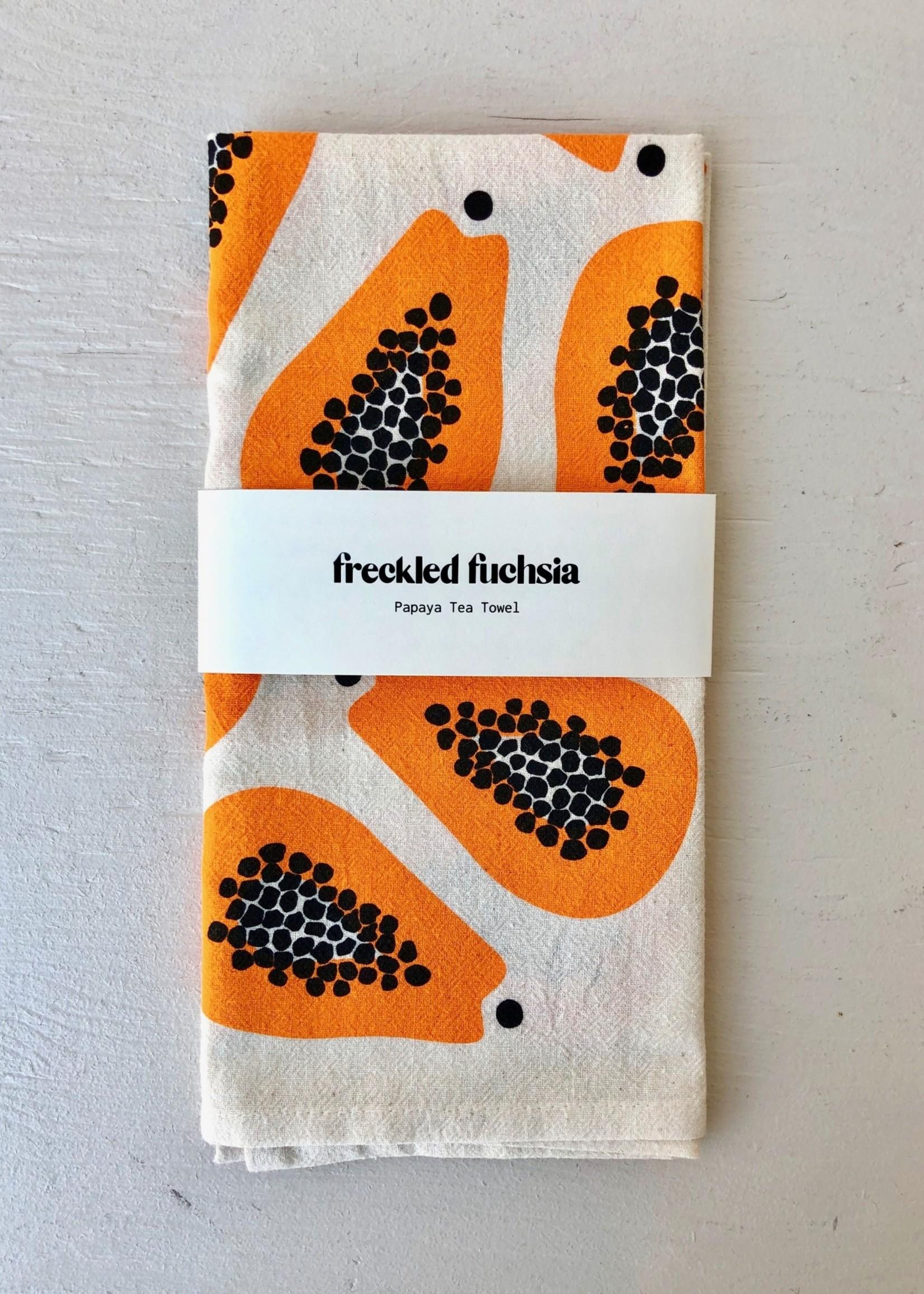 Freckled Fuchsia Linen Tea Towel by Freckled Fuchsia
