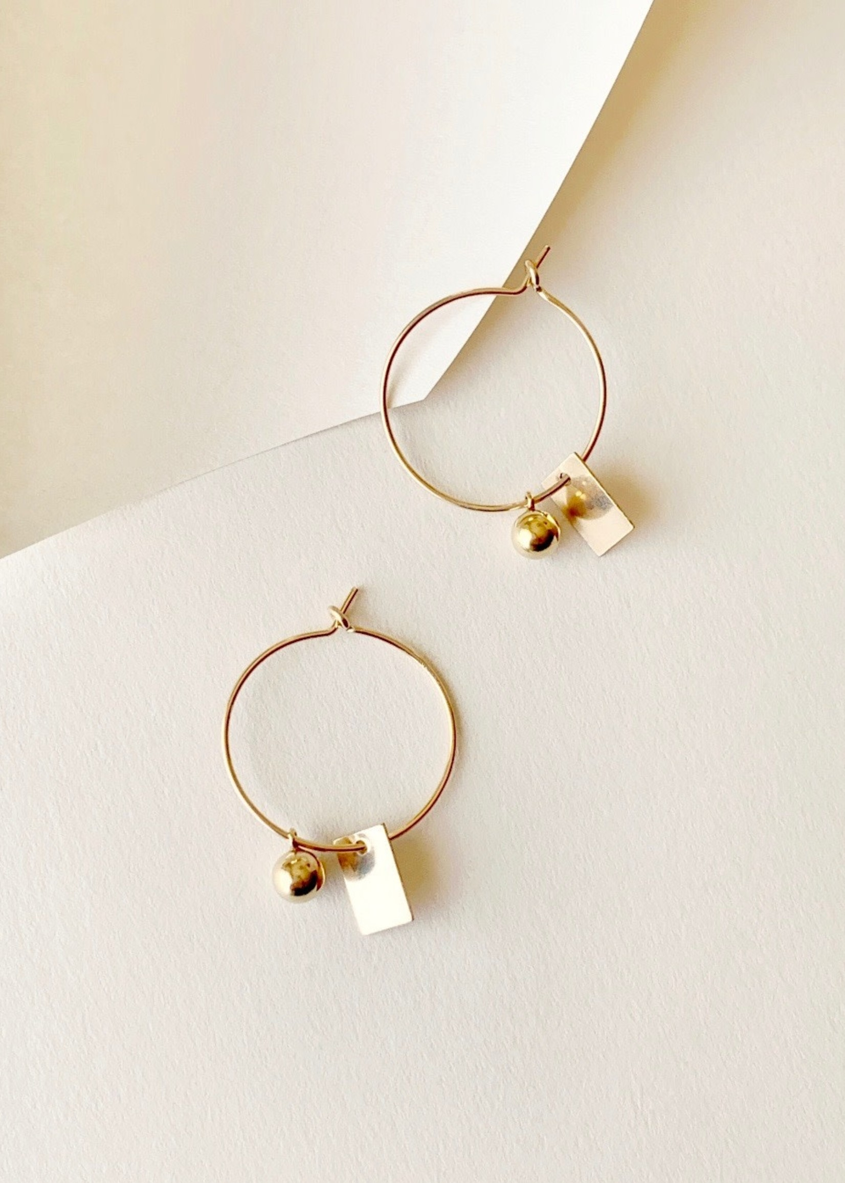 """Highlow Jewelry Boucle d'oreilles or """"Dimension Hoops"""""""