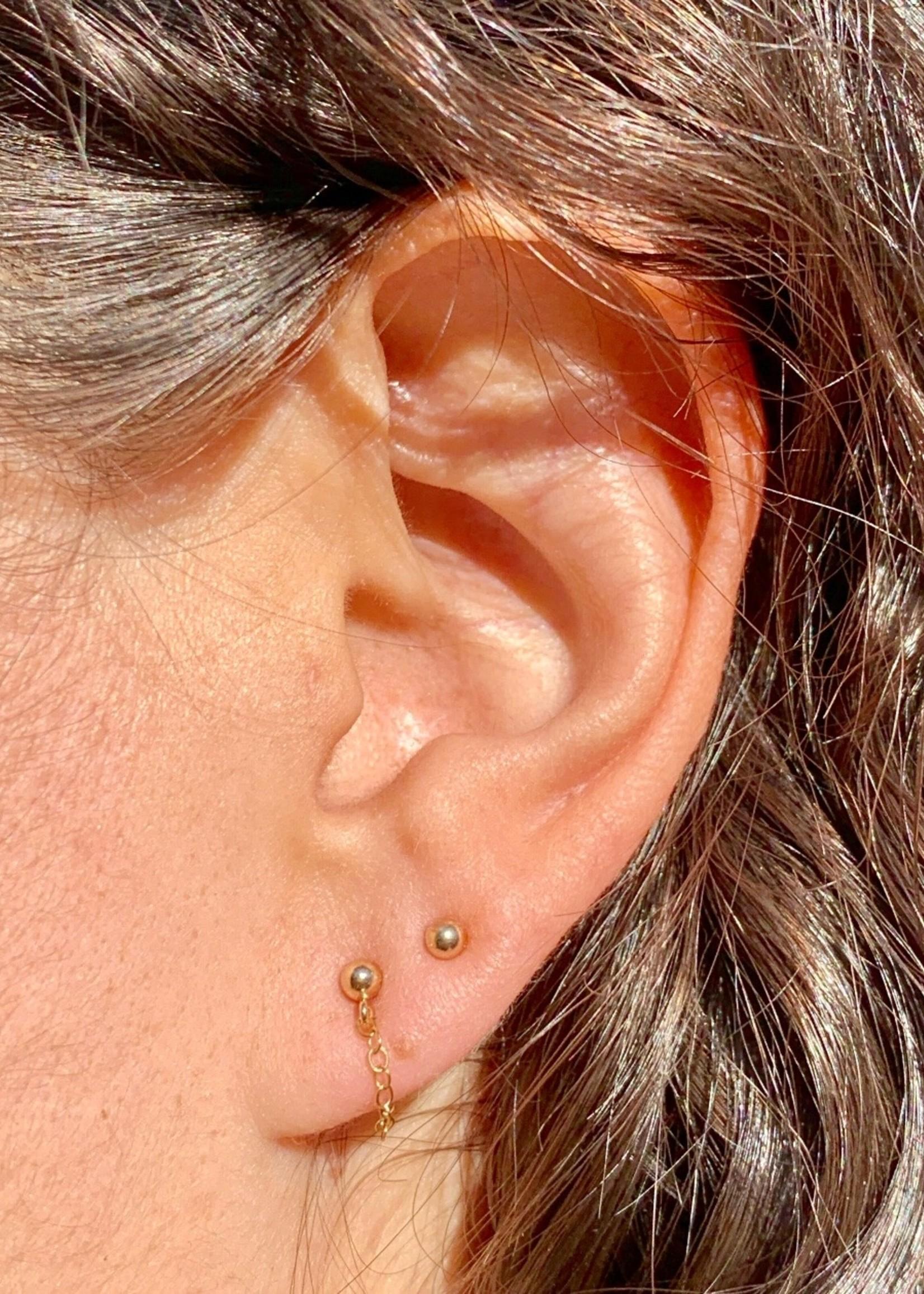 Highlow Jewelry Boucle d'oreille argentée Swing
