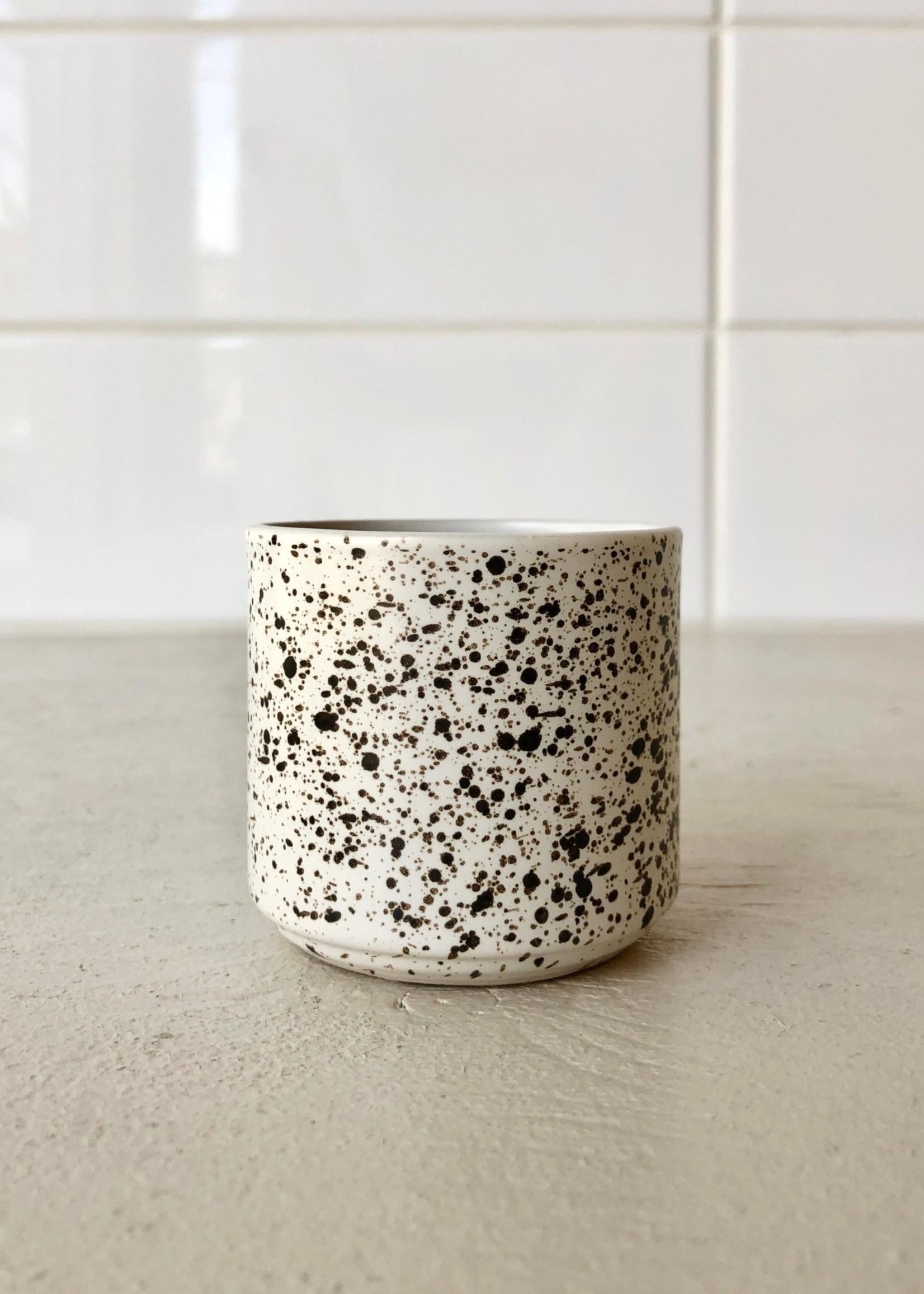Bovi Home Black Splatter Candle Holder by Bovi Home