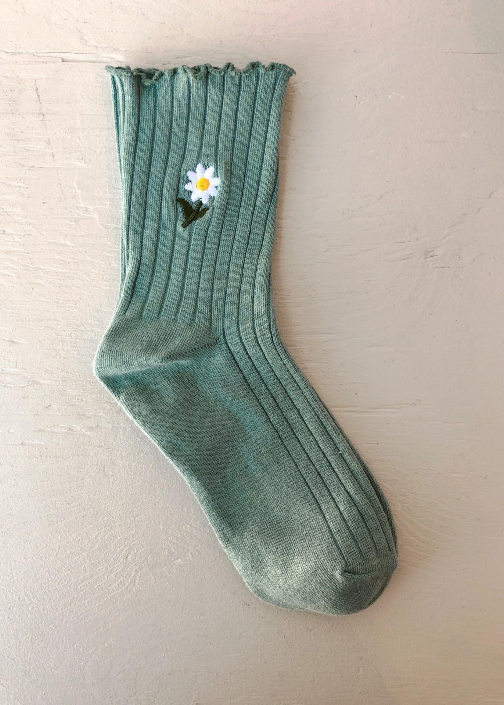 Empire Exchange Daisy Ruffle Socks by Empire Exchange
