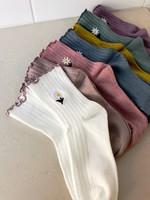 Empire Exchange Chaussettes marguerite à volants