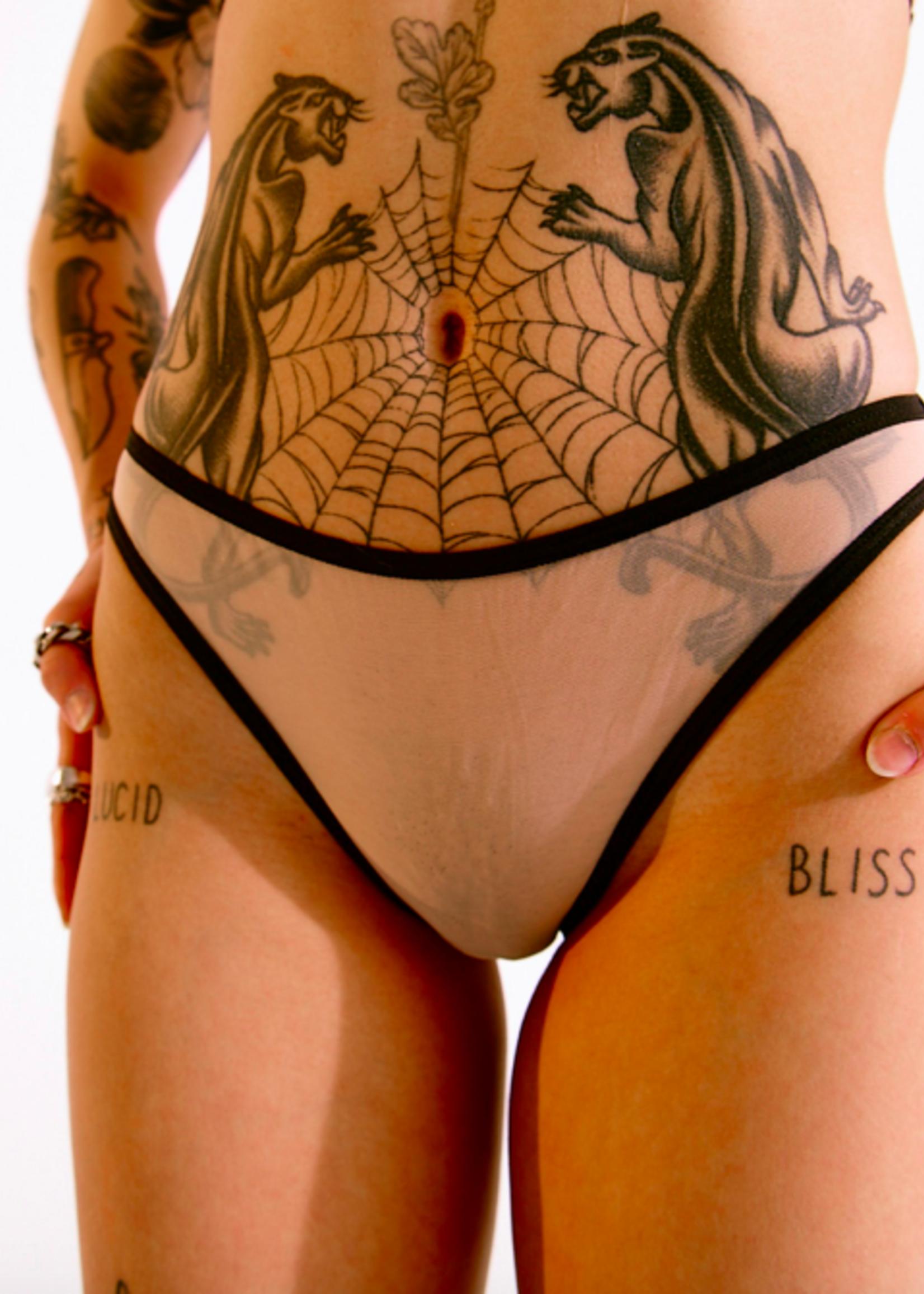 Blush Lingerie Bikini échancré en maille Mei Pang x Blush par Blush Lingerie