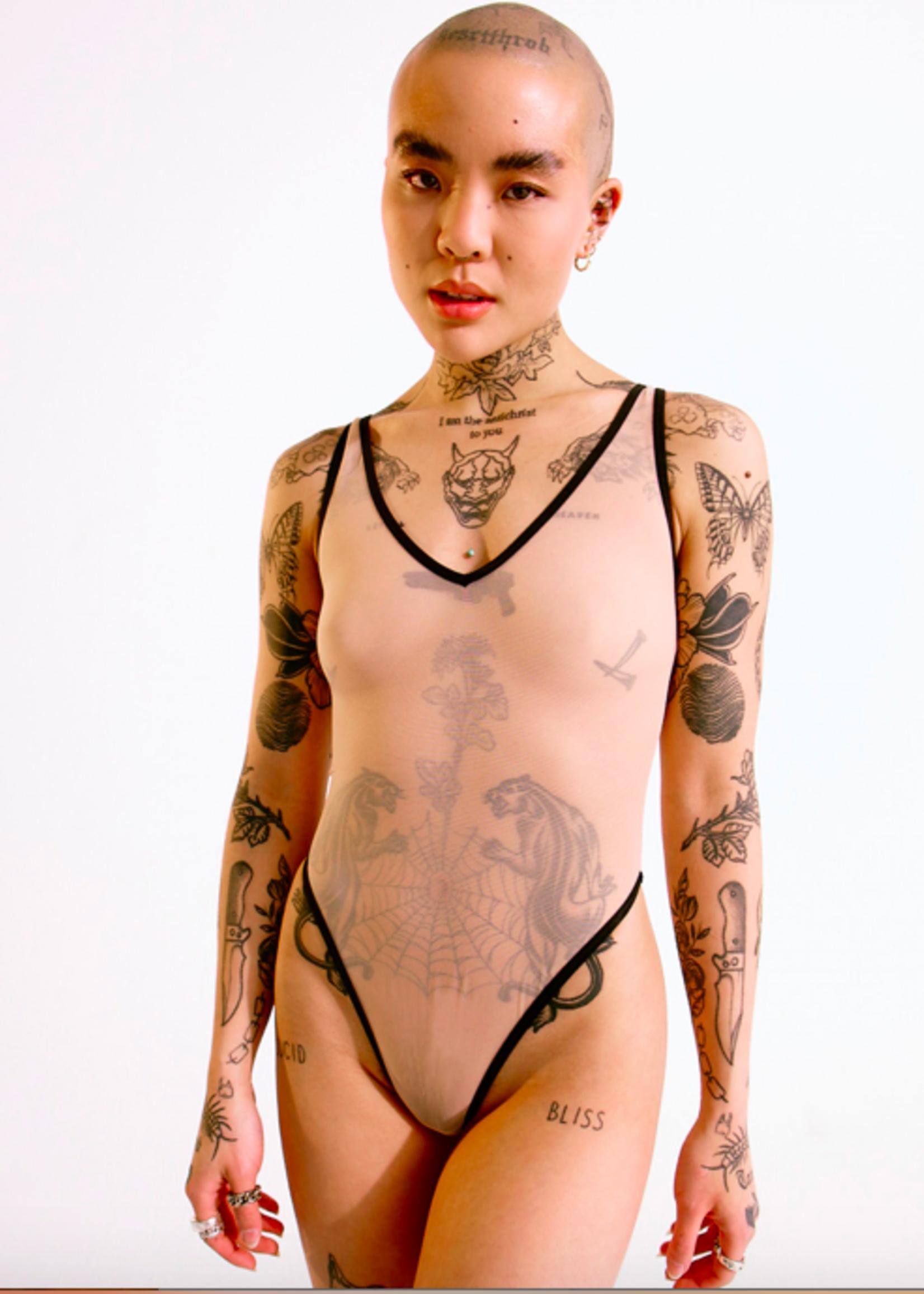 Blush Lingerie Bodysuit en maille Mei Pang x Blush par Blush Lingerie