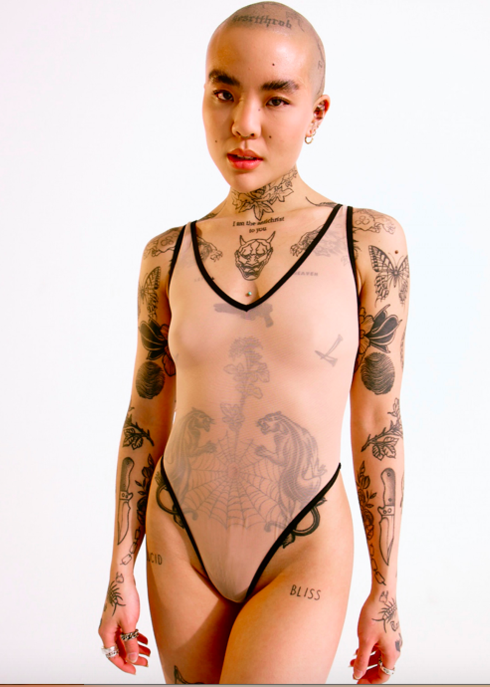 Blush Lingerie Mei Pang x Blush Mesh Bodysuit by Blush Lingerie
