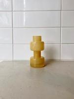 """Bloomingville Vase en verre """"Milky Yellow"""""""