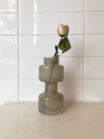 Bloomingville Milky Grey Glass Vase