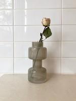 "Bloomingville Vase en verre ""Milky Grey"""