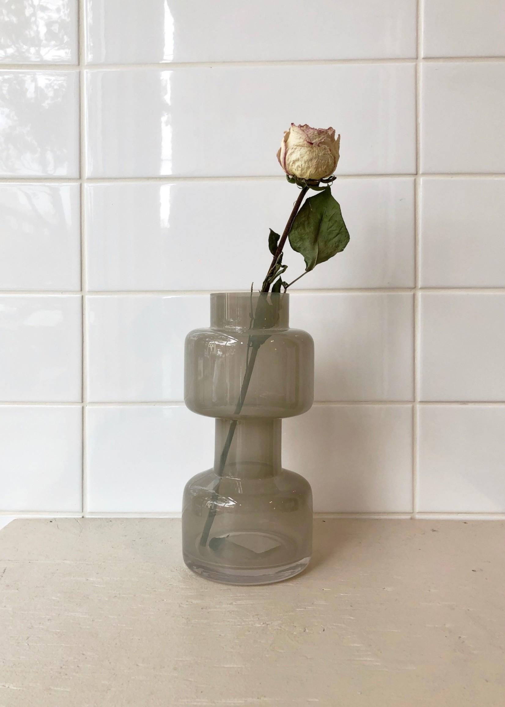Bloomingville Milky Grey Glass Vase by Bloomingville