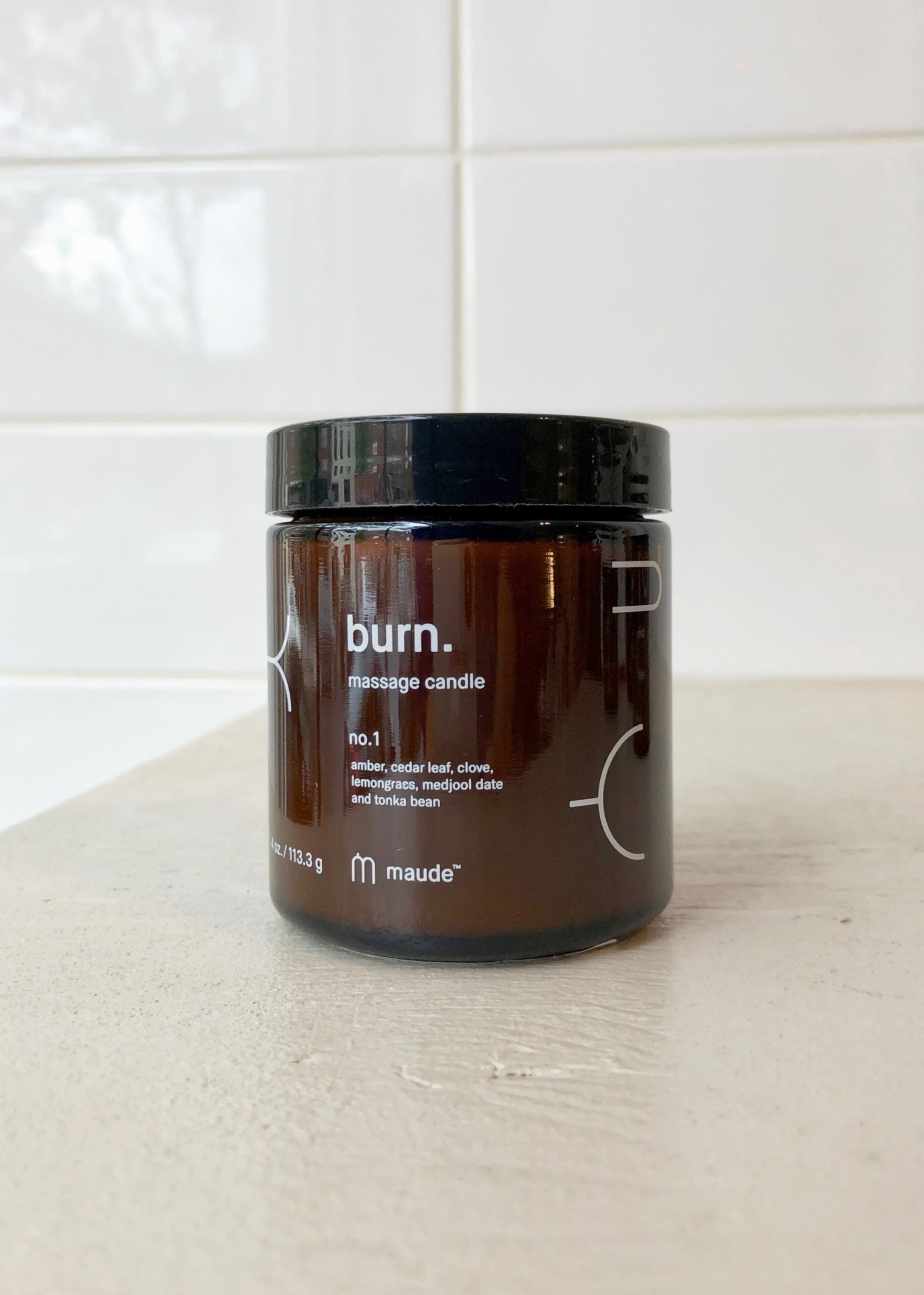 "Maude Bougie de massage ""Burn"" 113g par Maude"