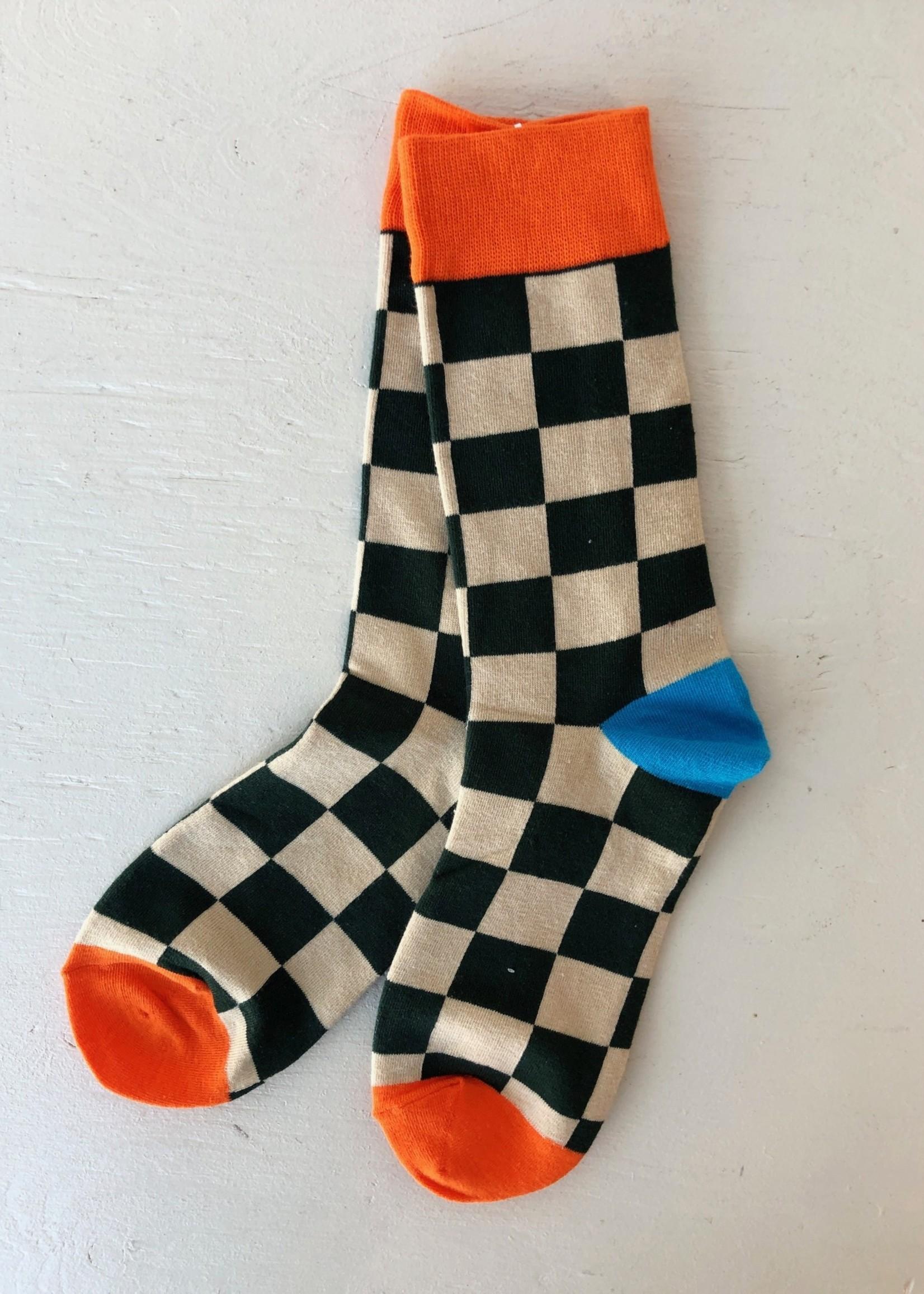 Annex Vintage Checkerboard Socks by Annex Vintage