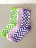 Annex Vintage Ribbed Checkerboard Socks