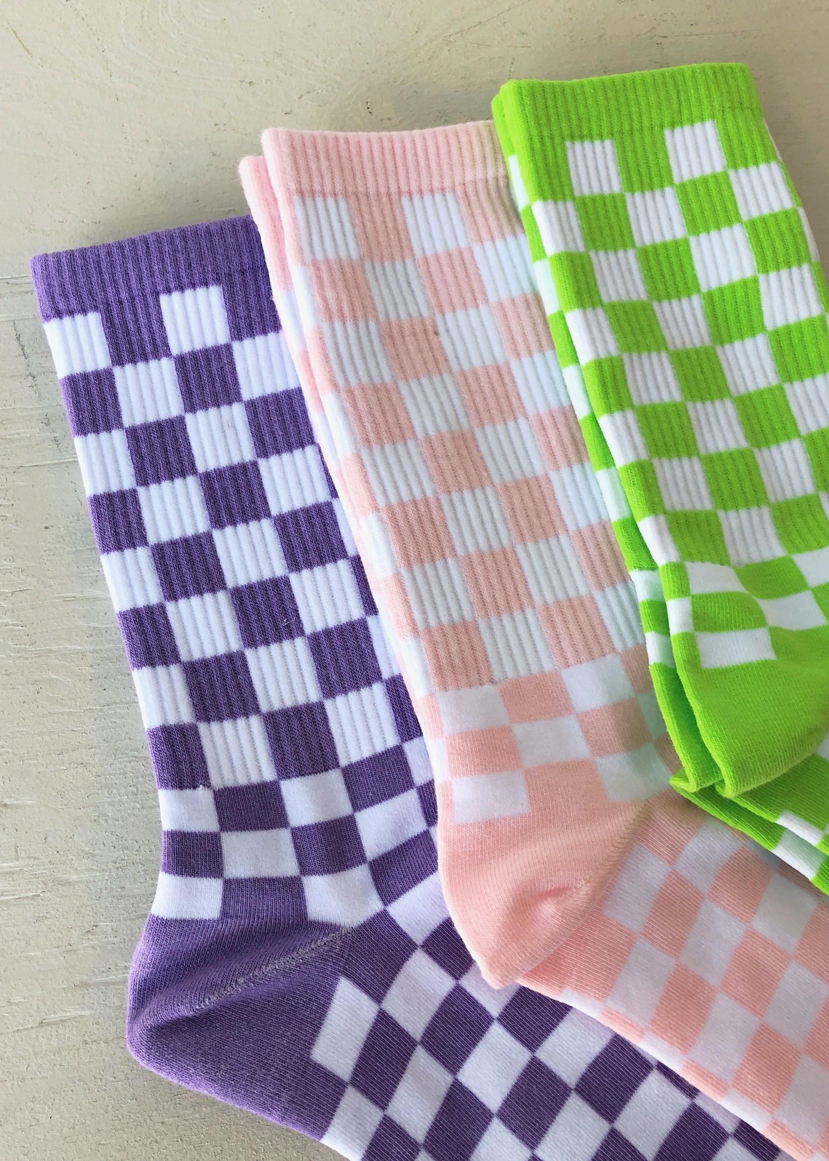 """Annex Vintage Chaussettes côtelées """"Checkerboard"""" par Annex Vintage"""