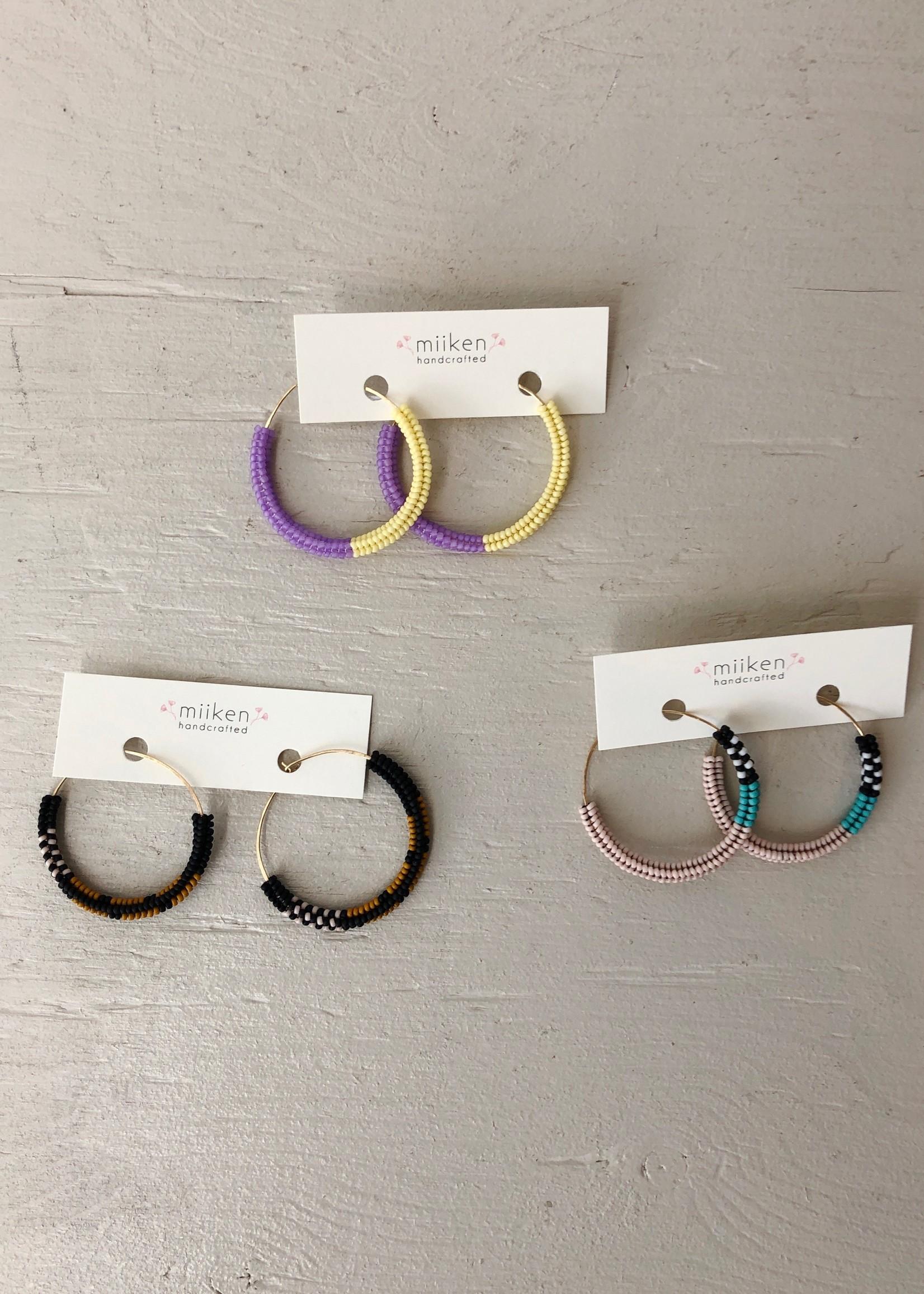 Miiken Handcrafted Hoops Earrings by Miiken Handcrafted