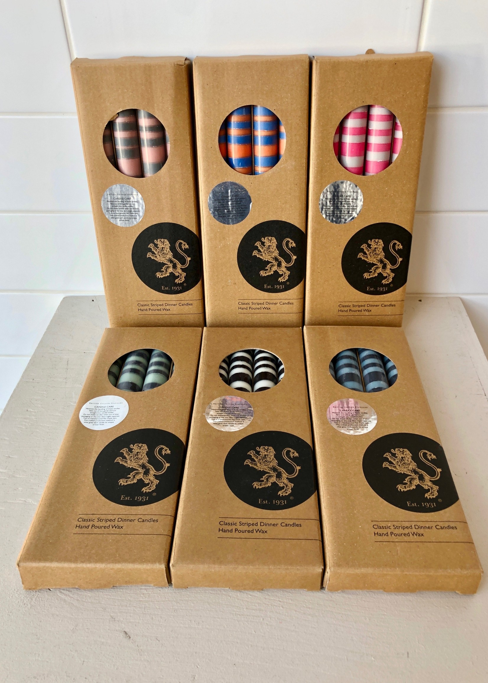 British Colour Standard 4-Pack 2-Colour Candles by British Colour Standard