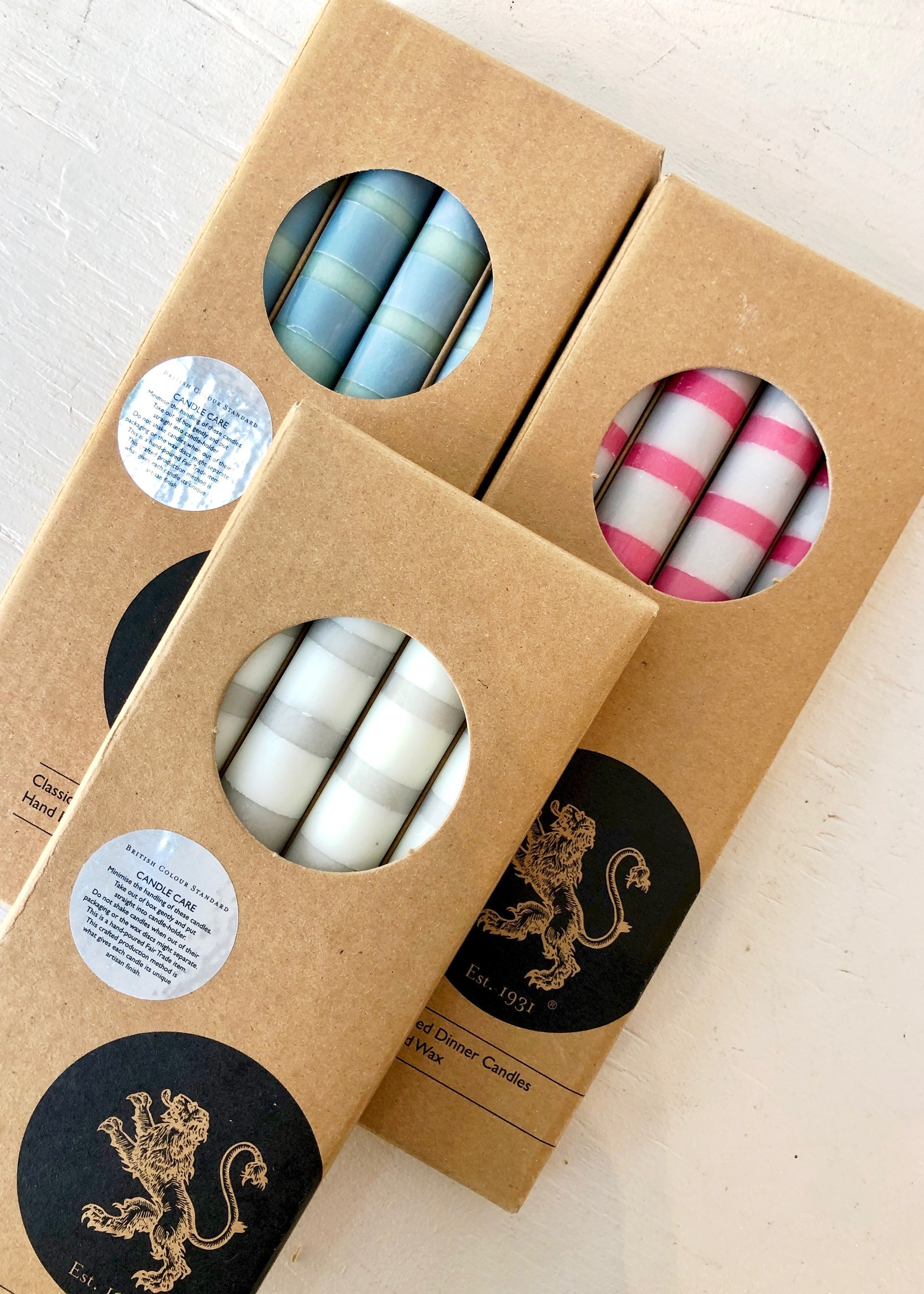 British Colour Standard 4-Pack 3-Colour Candles by British Colour Standard