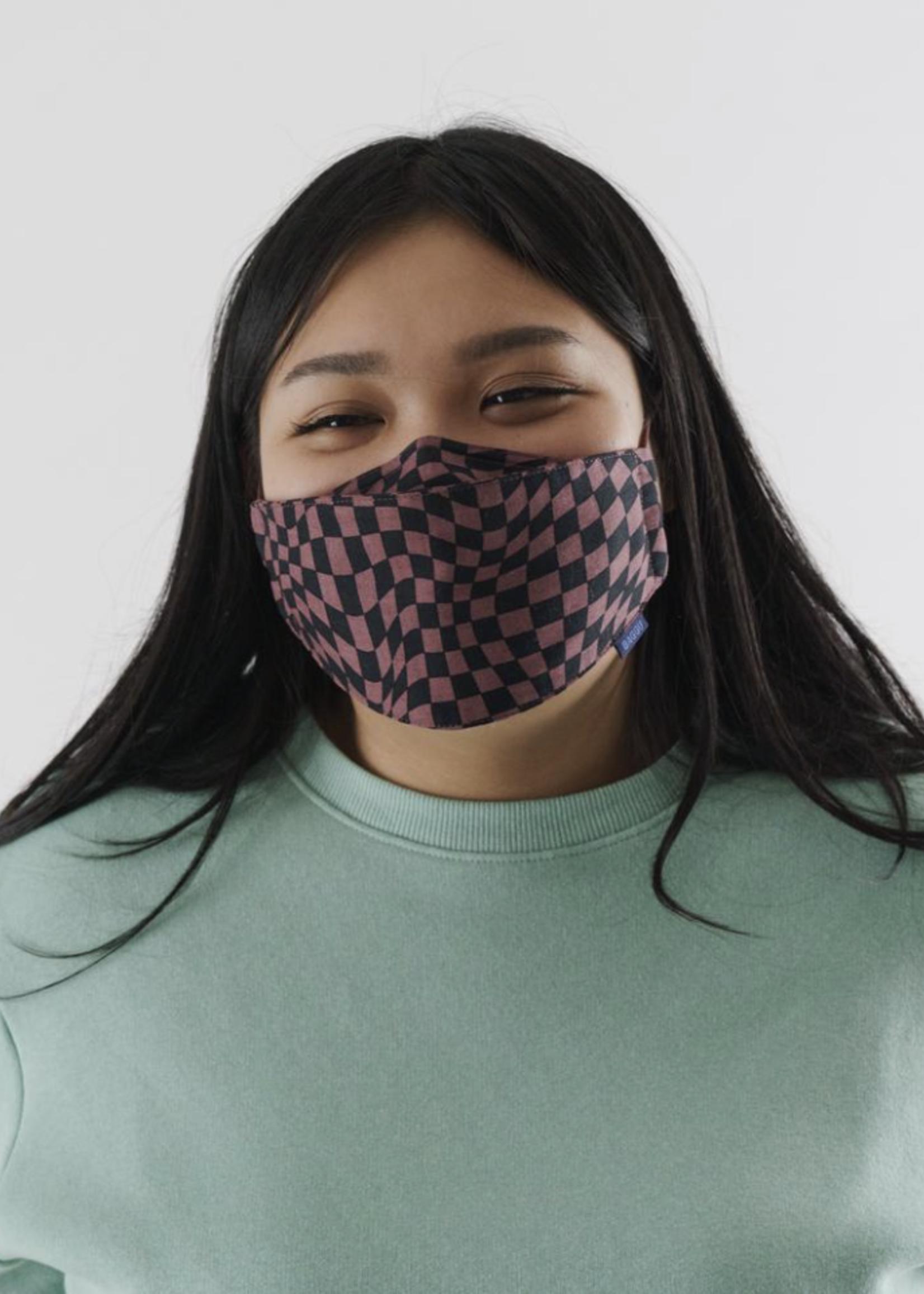 Baggu Trippy Checkers Cotton Face Masks by Baggu