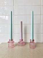 Annex Vintage Pink Glass Candle Holder