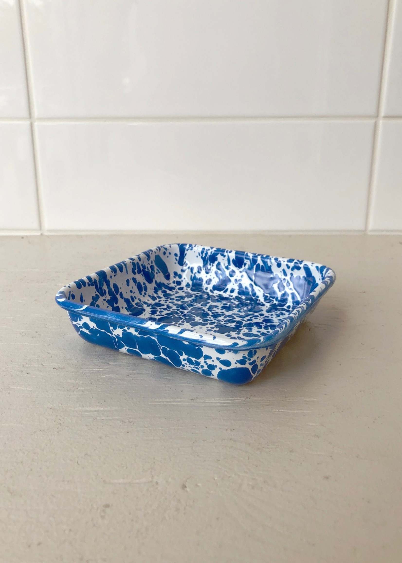 Crow Canyon Home Small Enamelled Square Tray by Crow Canyon Home