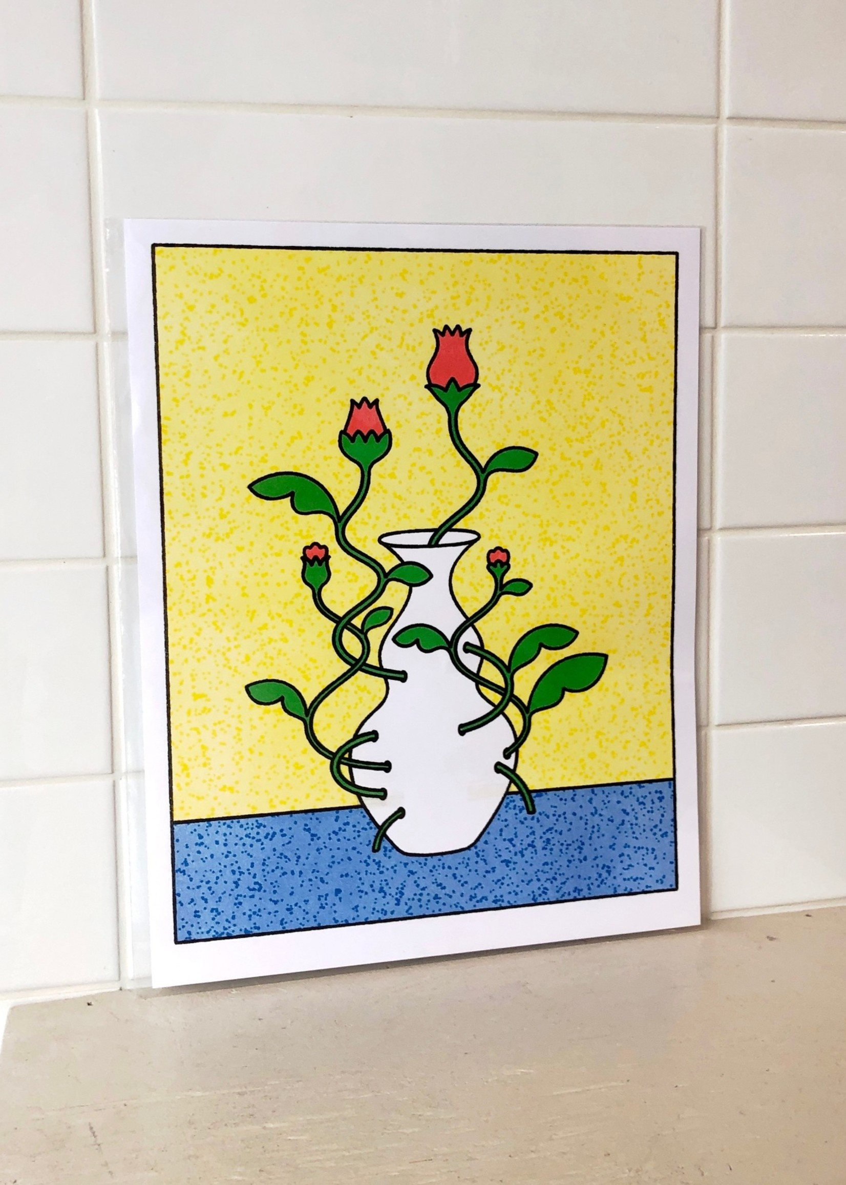 """Caboose """"That's a Cool Vase"""" Print by Lan Truong"""