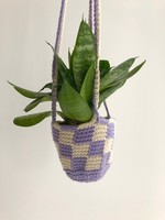 Slow May Checkered Crochet Plant Hangers