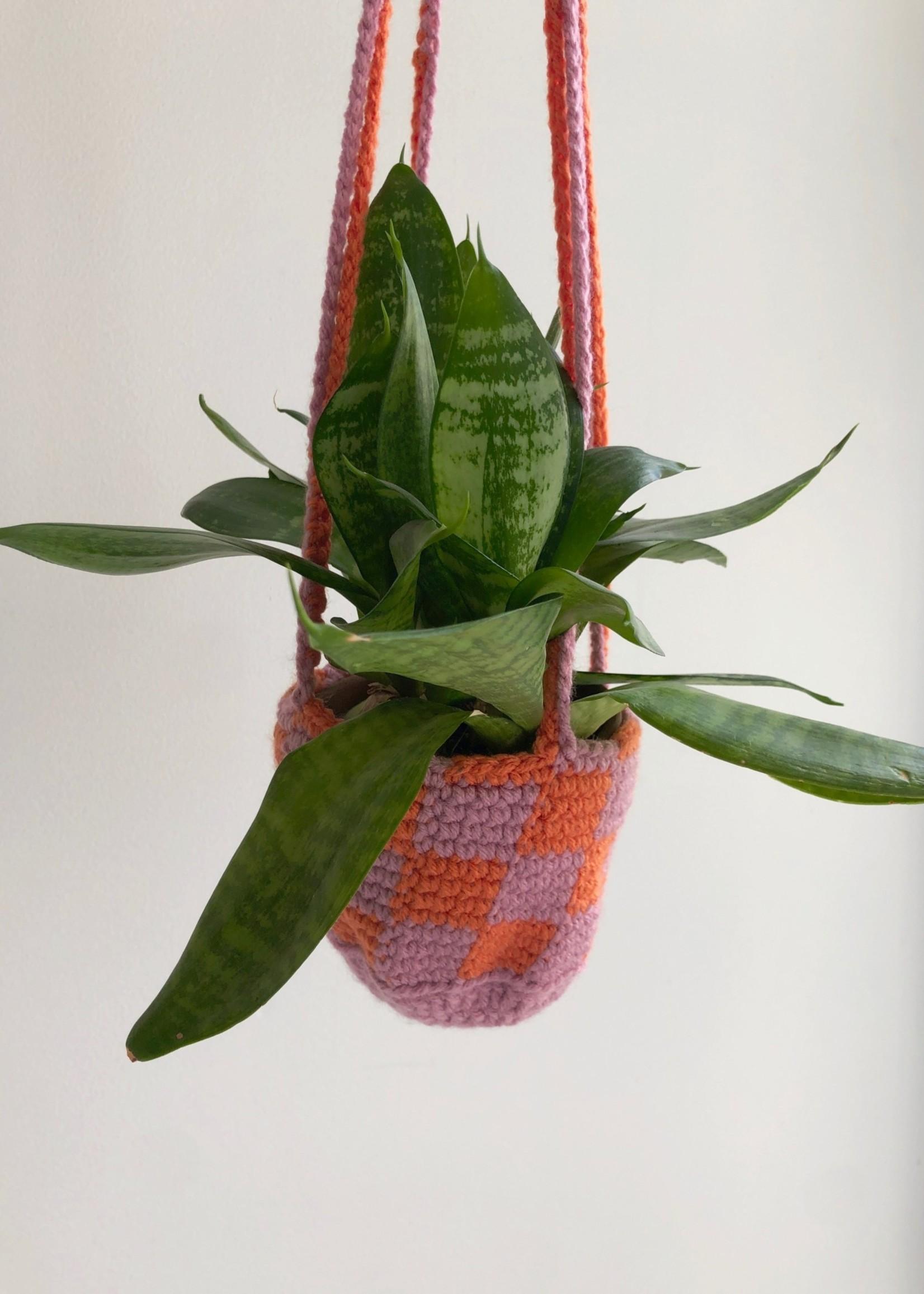 Slow May Jardinières à carreaux en crochet par Slow May