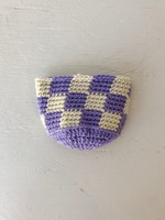 Slow May Small Checkered Crochet Plant Cozy