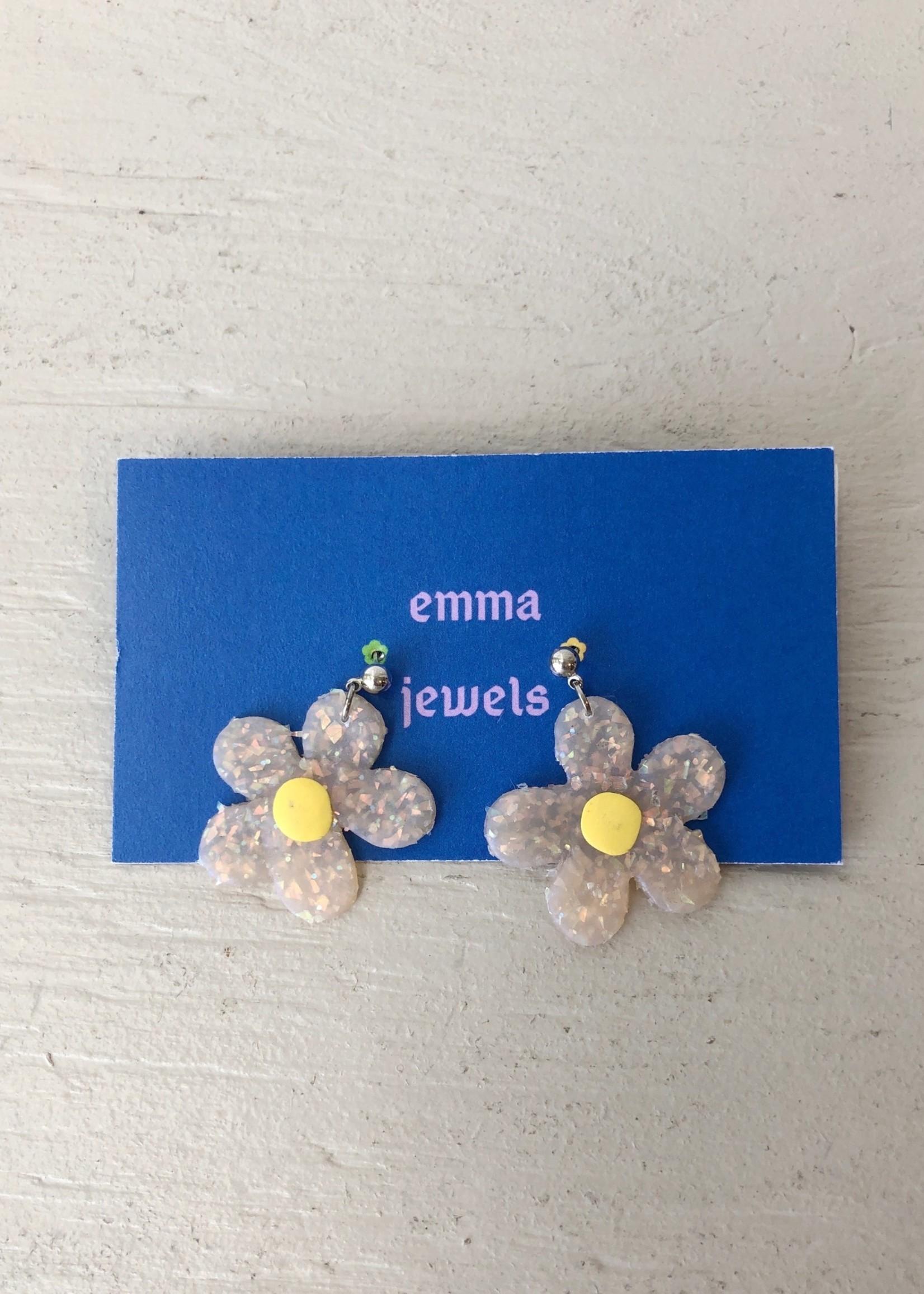 Emma Jewels Opal Daisies Earrings by Emma Jewels