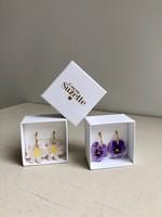 Coucou Suzette Flower Hoop Earrings
