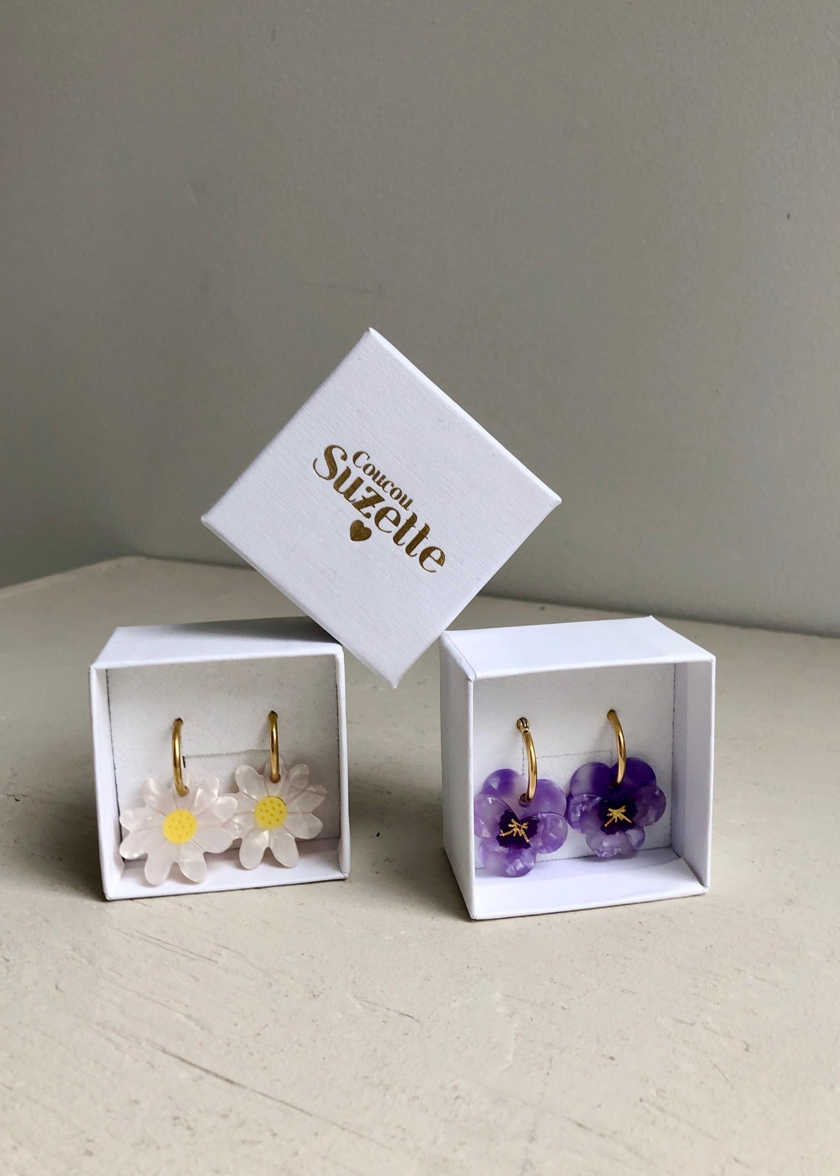 Coucou Suzette Boucles d'oreilles anneaux à fleurs par Coucou Suzette