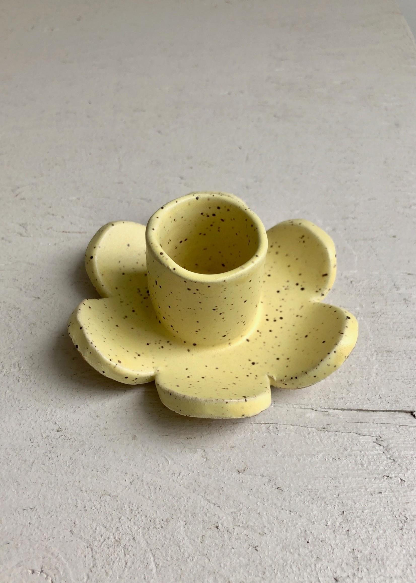 Minipott Portes-bougie marguerite en céramique par Minipott