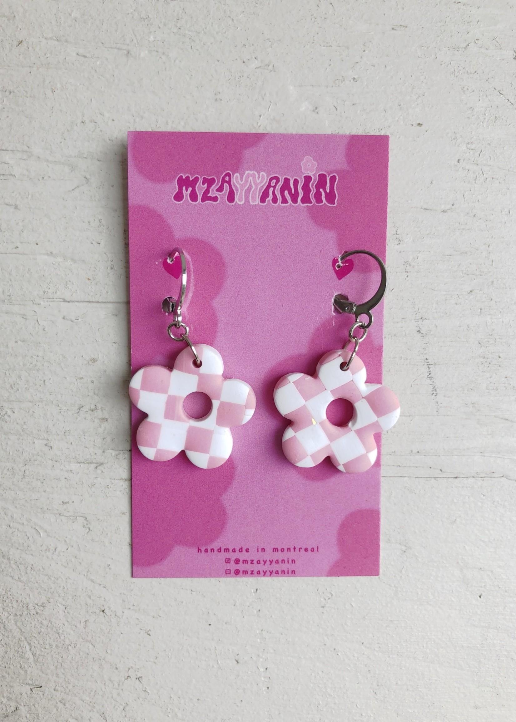 Mzayyanin Daisy Check Earrings by Mzayyanin