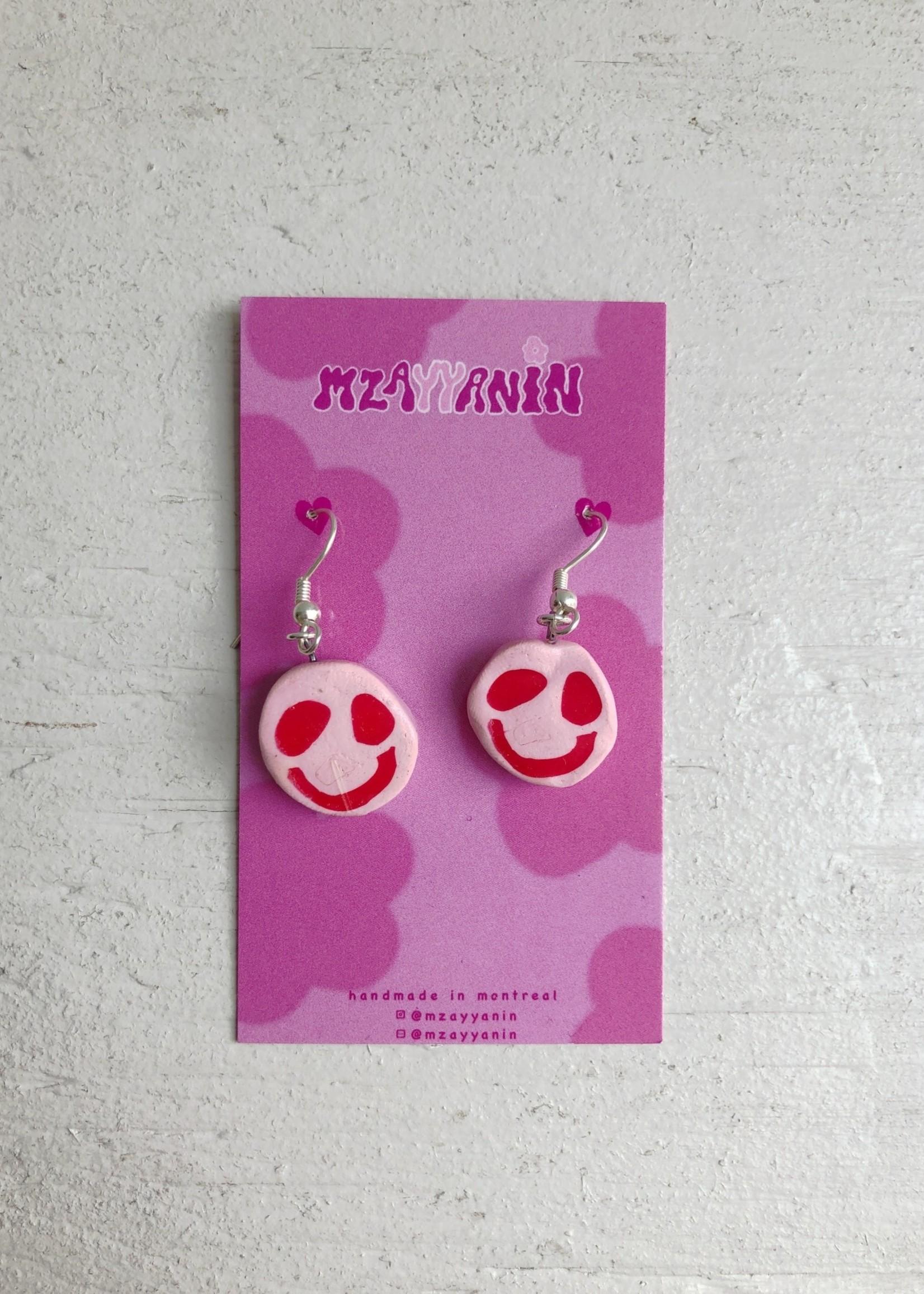 Mzayyanin Smiley Earrings by Mzayyanin
