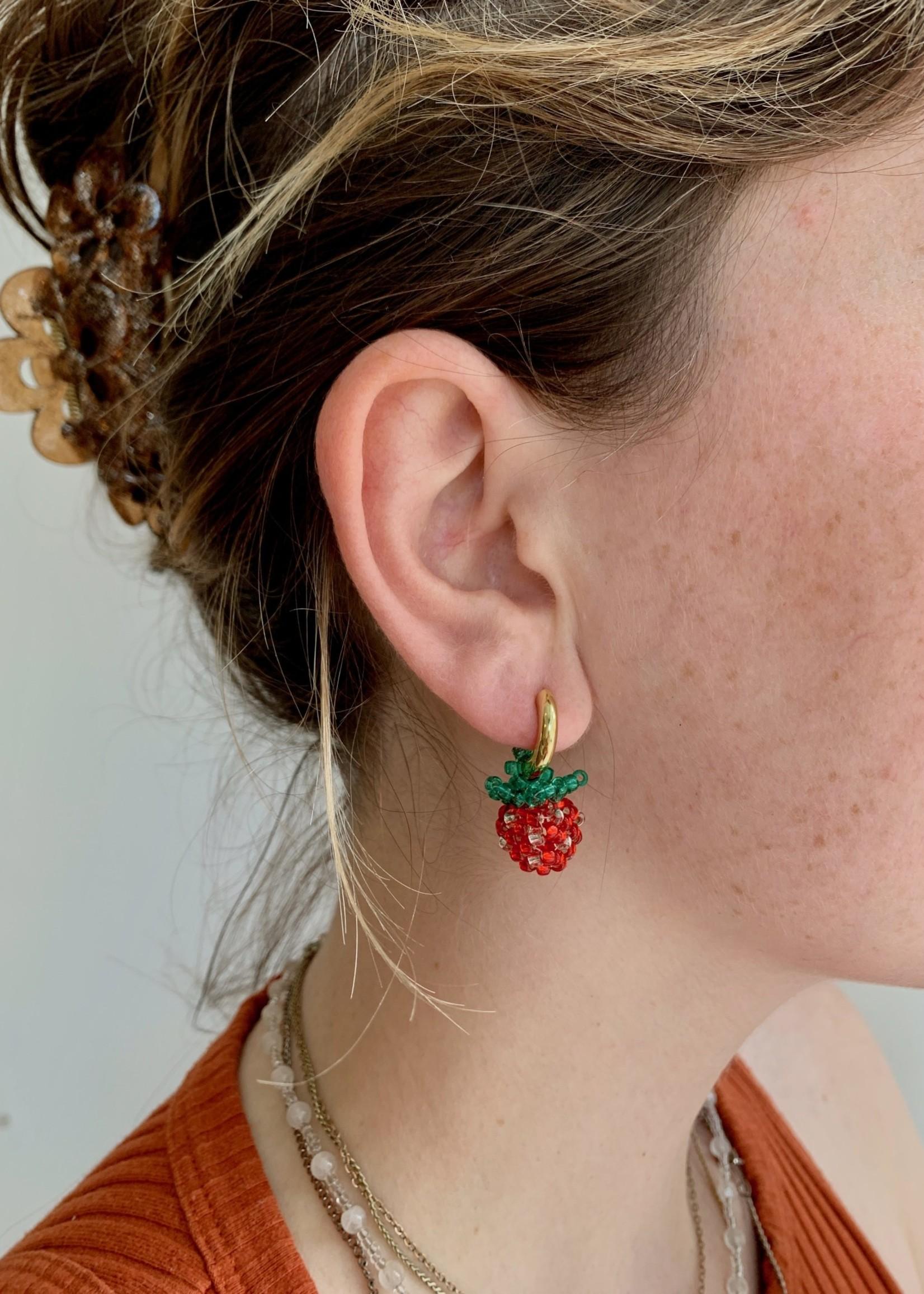 Emri Studio Fruit Hoop Earrings by EMRI Studio