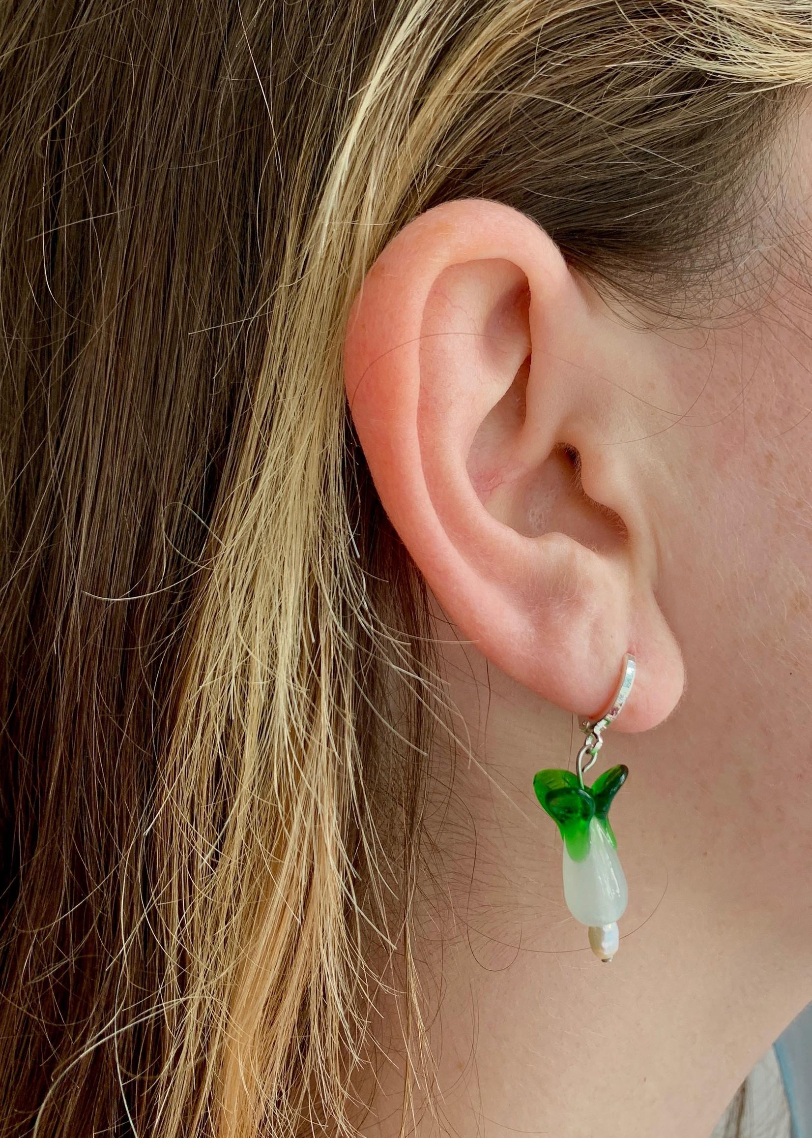 True Middle Baby Bok Choy Earrings by True Middle