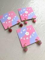 Emri Studio Boucles d'oreilles anneaux minis en fruits