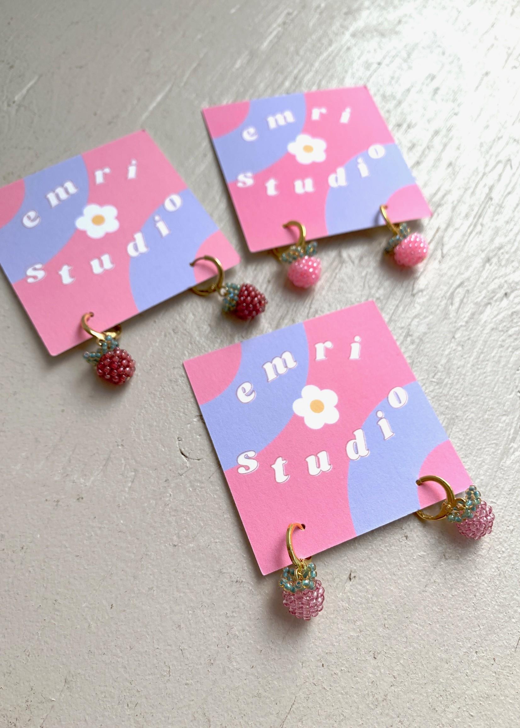 Emri Studio Mini Fruit Hoop Earrings by EMRI Studio