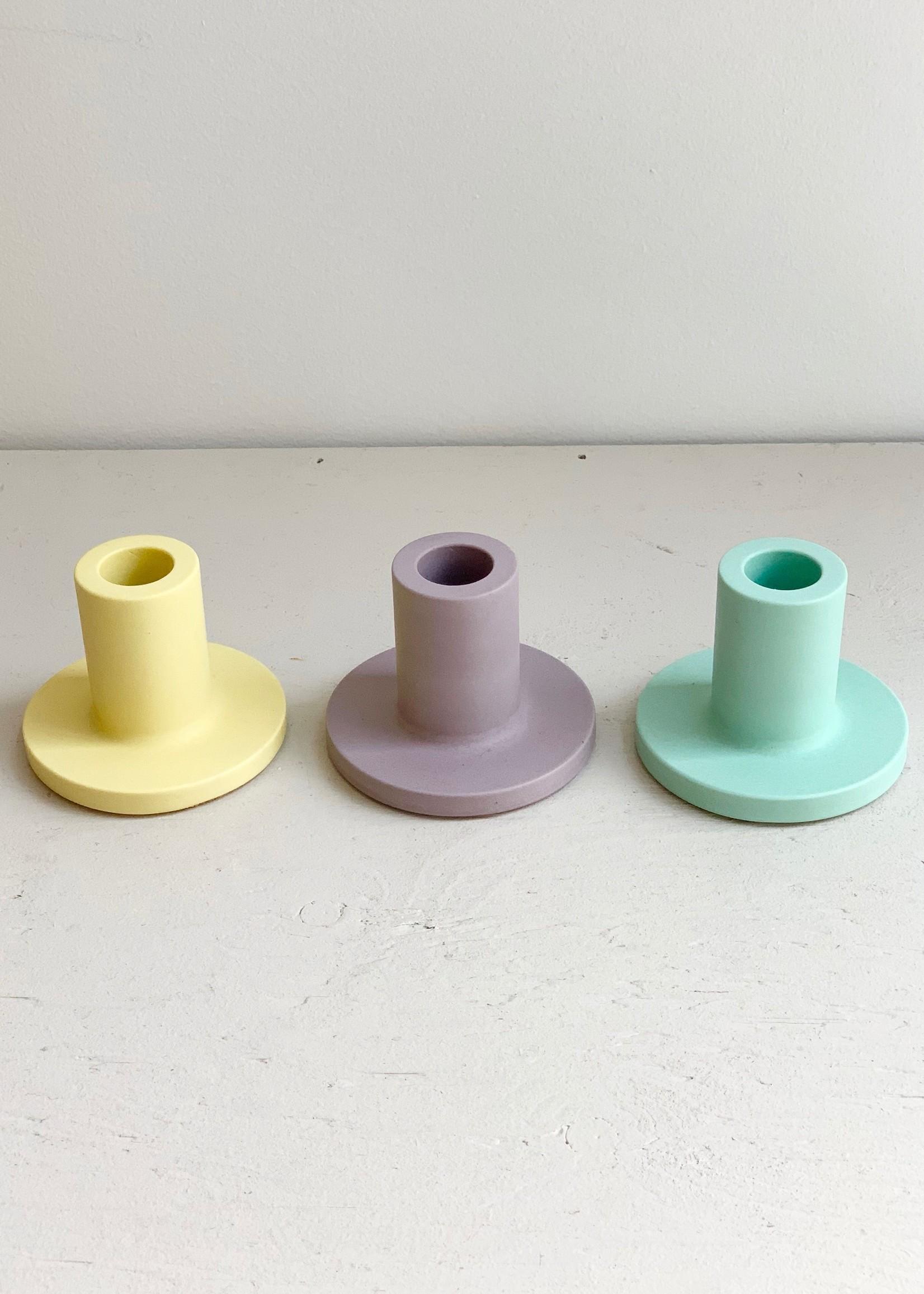 Razzo Studio Pastel Candle Holders by Razzo Studio
