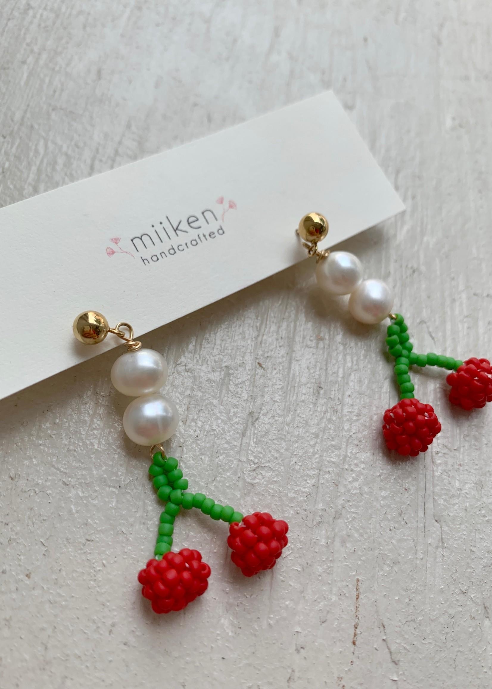 Miiken Handcrafted Sakura Pearl Drop Earrings by Miiken Handcrafted