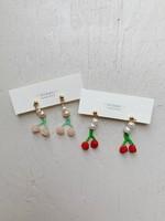 Miiken Handcrafted Sakura Pearl Drop Earrings
