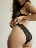 Blush Lingerie Lotus High Leg Bikini Black